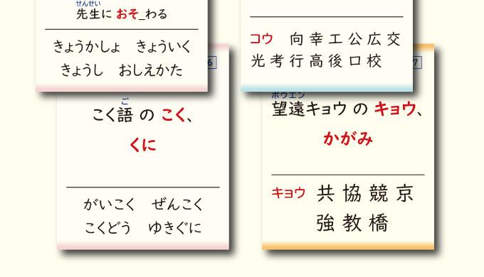 語例と同音異字