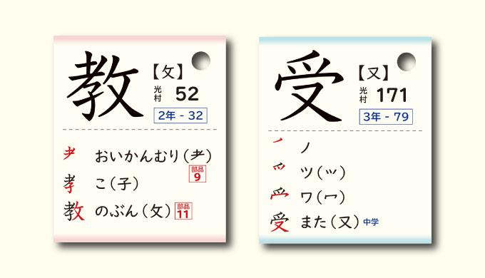 漢字カード書き方