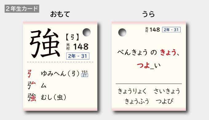 強の漢字カード
