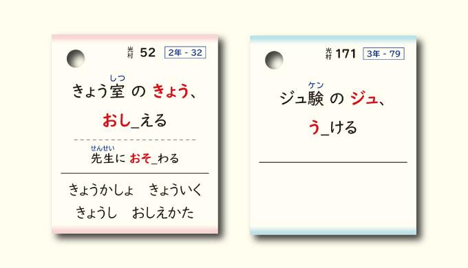 漢字カード読み方